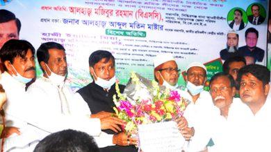 Photo of শাহাব উদ্দিন মিয়াকে জাতীয় শ্রমিক লীগের সহ-সভাপতি করায় সিদ্ধিরগঞ্জে গণ সংবর্ধনা