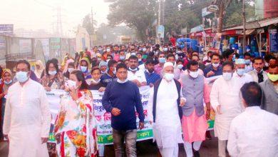 Photo of কুষ্টিয়ায় বঙ্গবন্ধুর ভাস্কর্য ভাঙ্গার প্রতিবাদ ডেমরায় বিক্ষোভ মিছিল ও প্রতিবাদ সমাবেশ